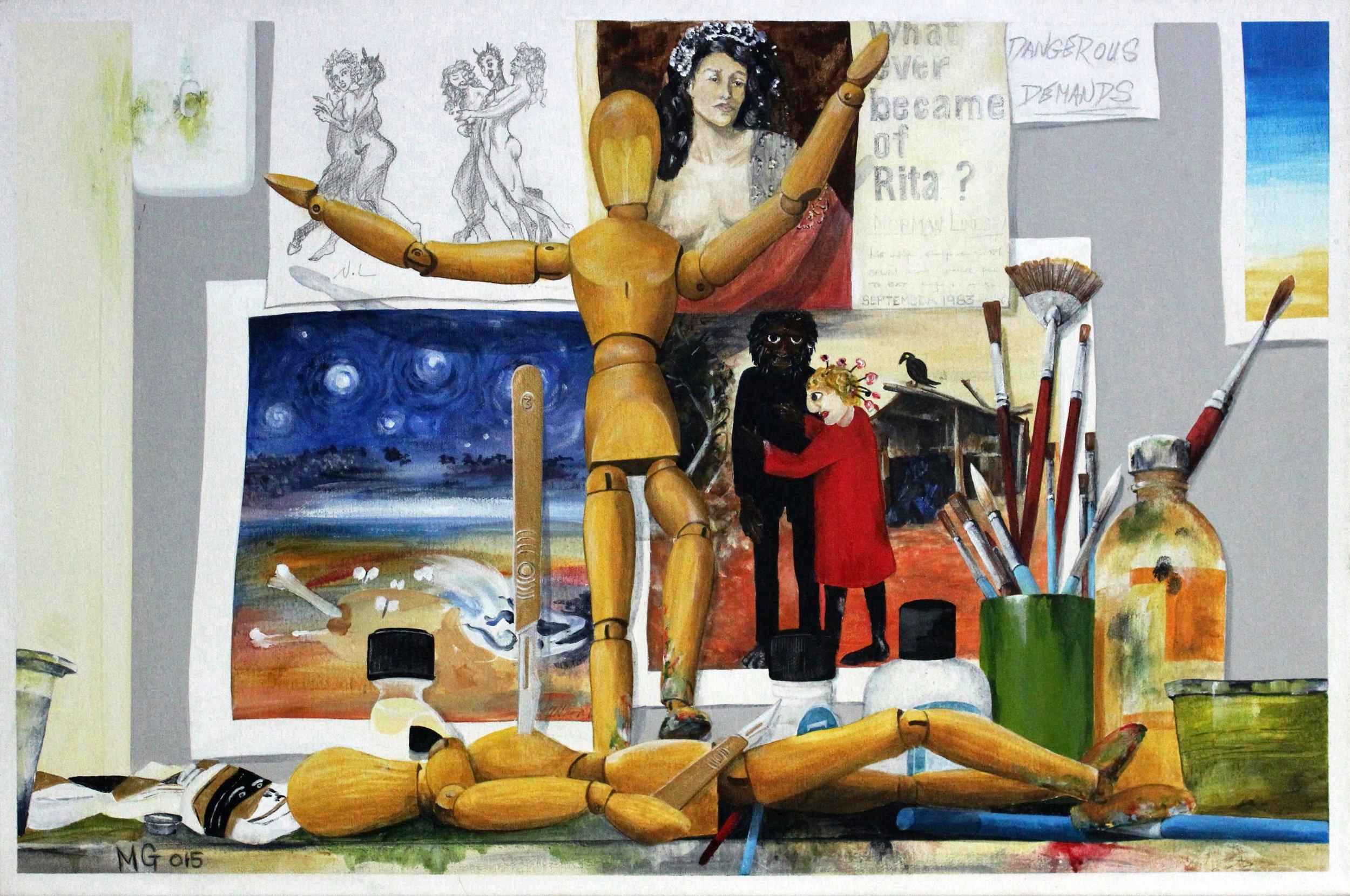 8. GALLAGHER_Martin_The Duel_76cmx51cm_Acrylic on Canvas.jpg