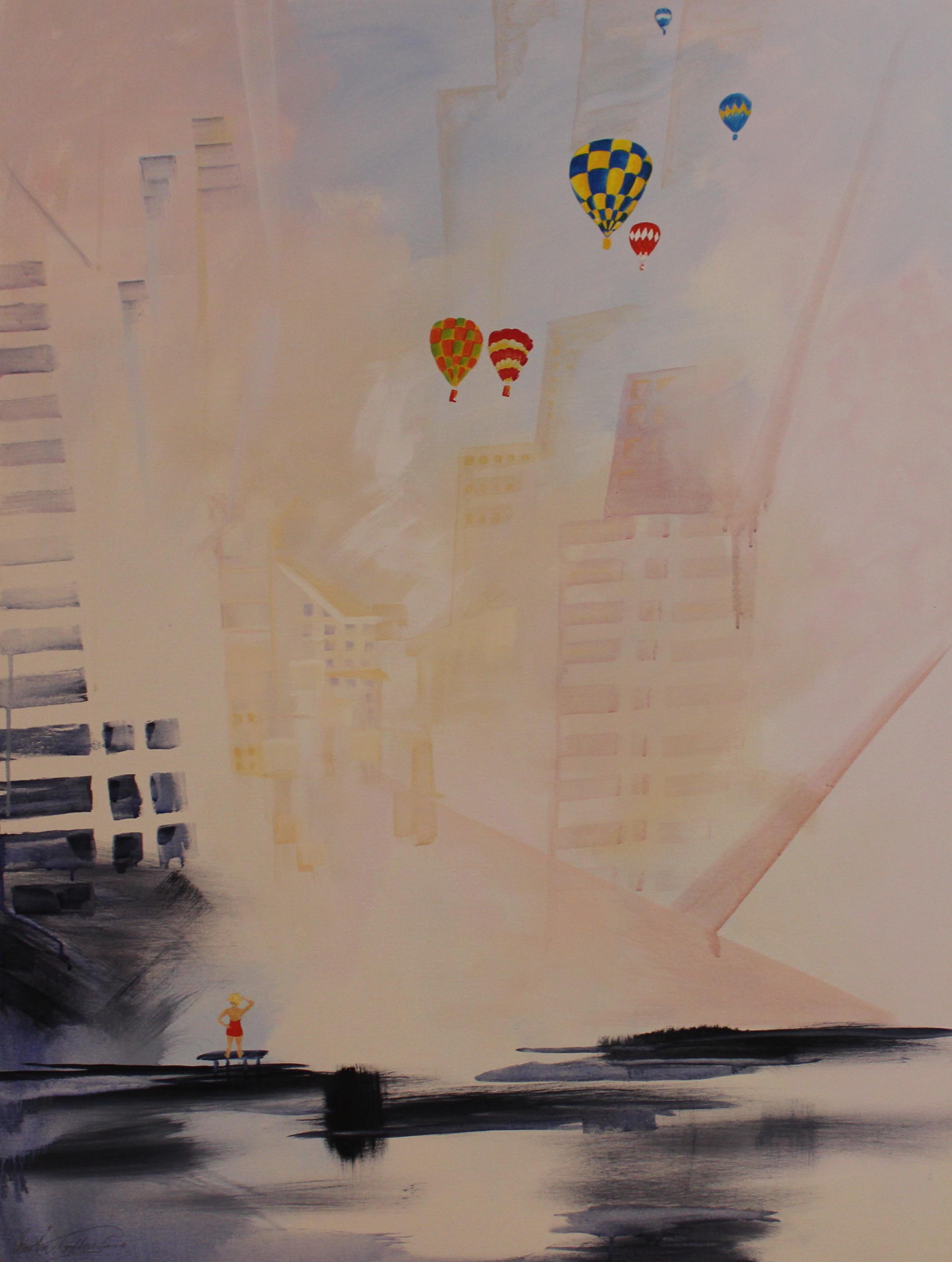 12. GALLAGHER_ Martin_Southside of Chicago_ Acrylic on Canvas 91cmx122cm.JPG