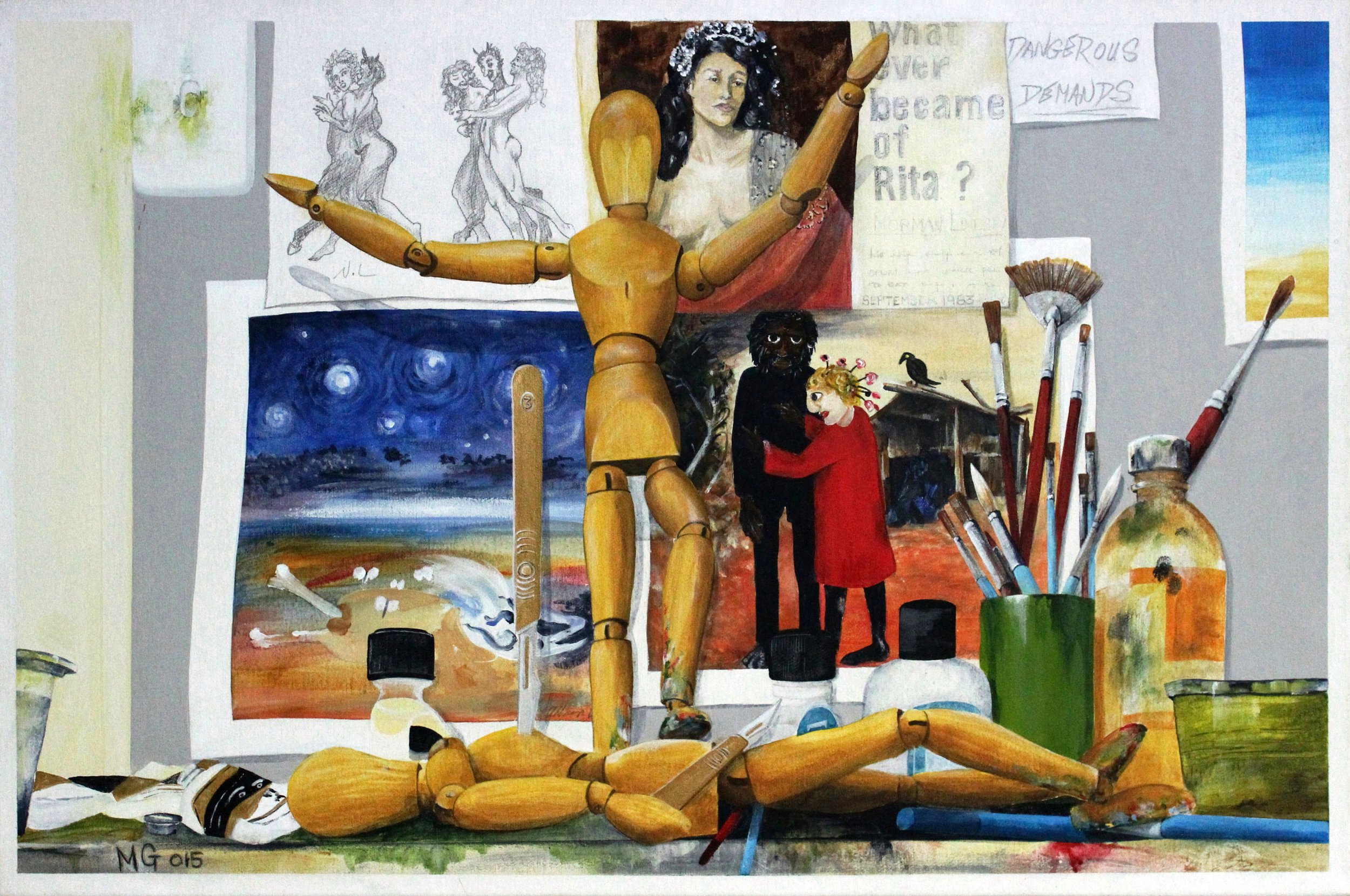 11. GALLAGHER_Martin_The Duel (In My Studio)_76cmx51cm_Acrylic on Canvas.jpg