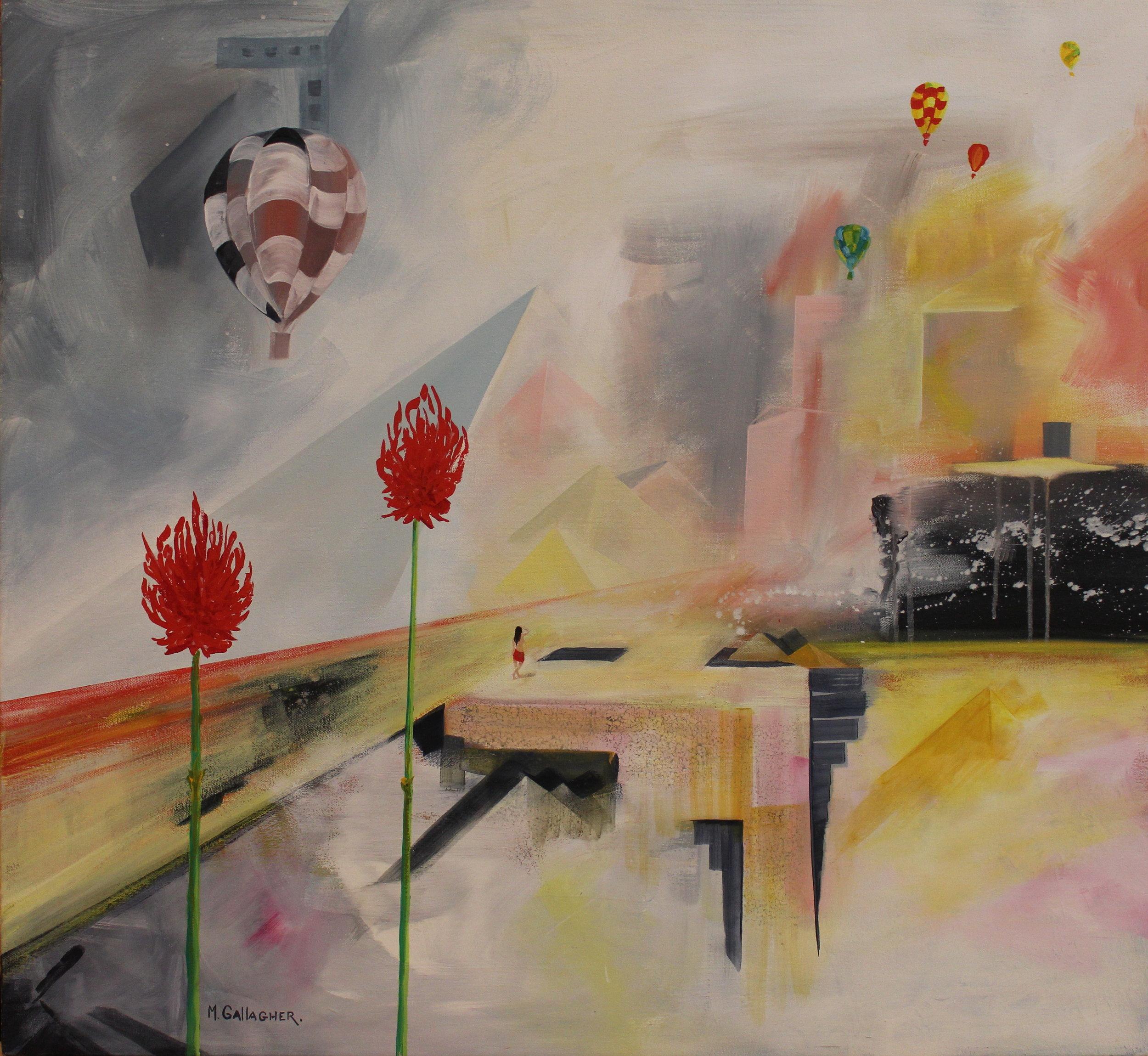 13. GALLAGHER_Martin_Slow Ride to Cairo_Acrylic on Canvas_91cmx91cm.JPG