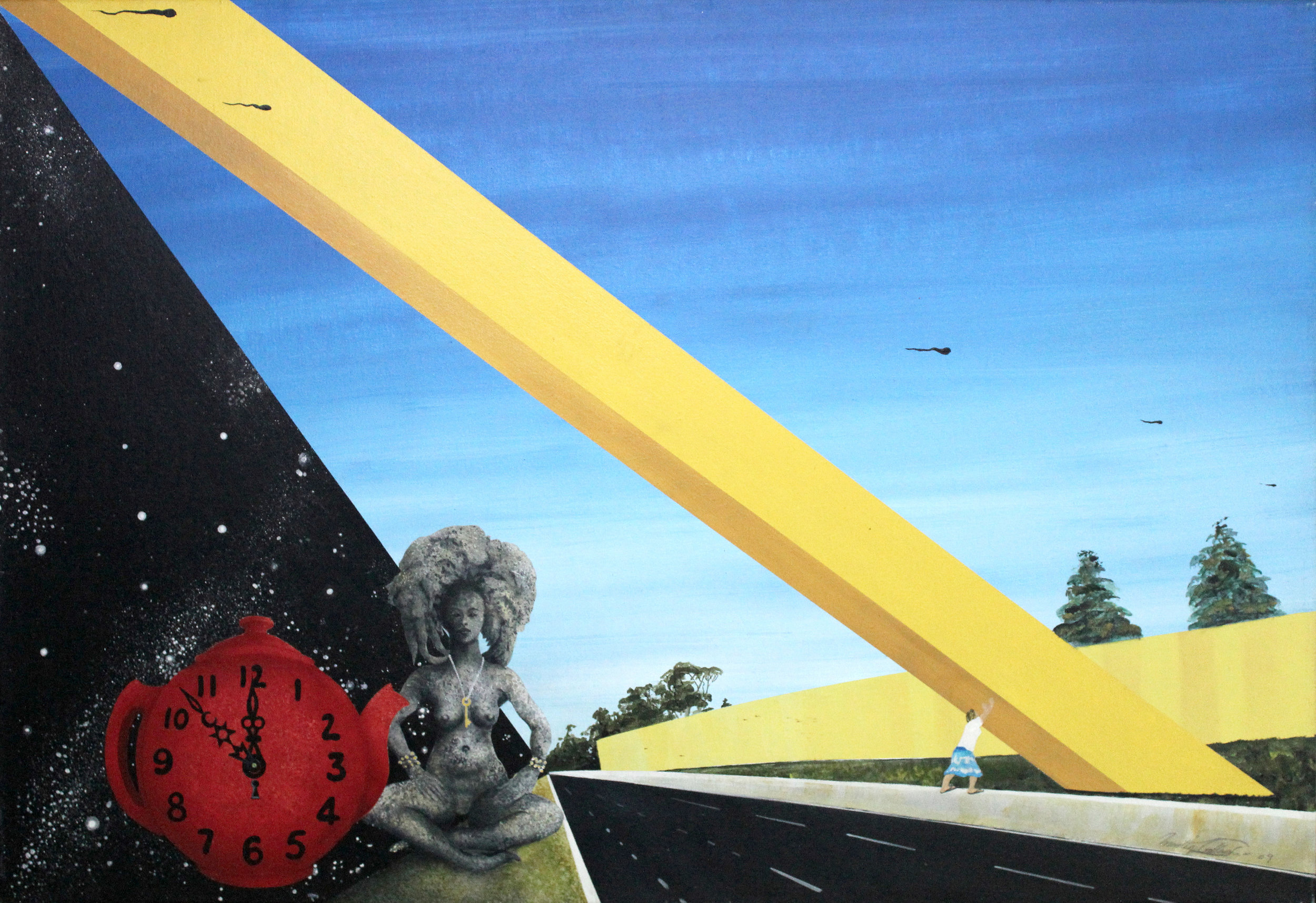 14. GALLAGHER_Martin_The Birth of the Cheesestick, Melbourne_91cmx61cm_Acrylic on Canvas.jpg