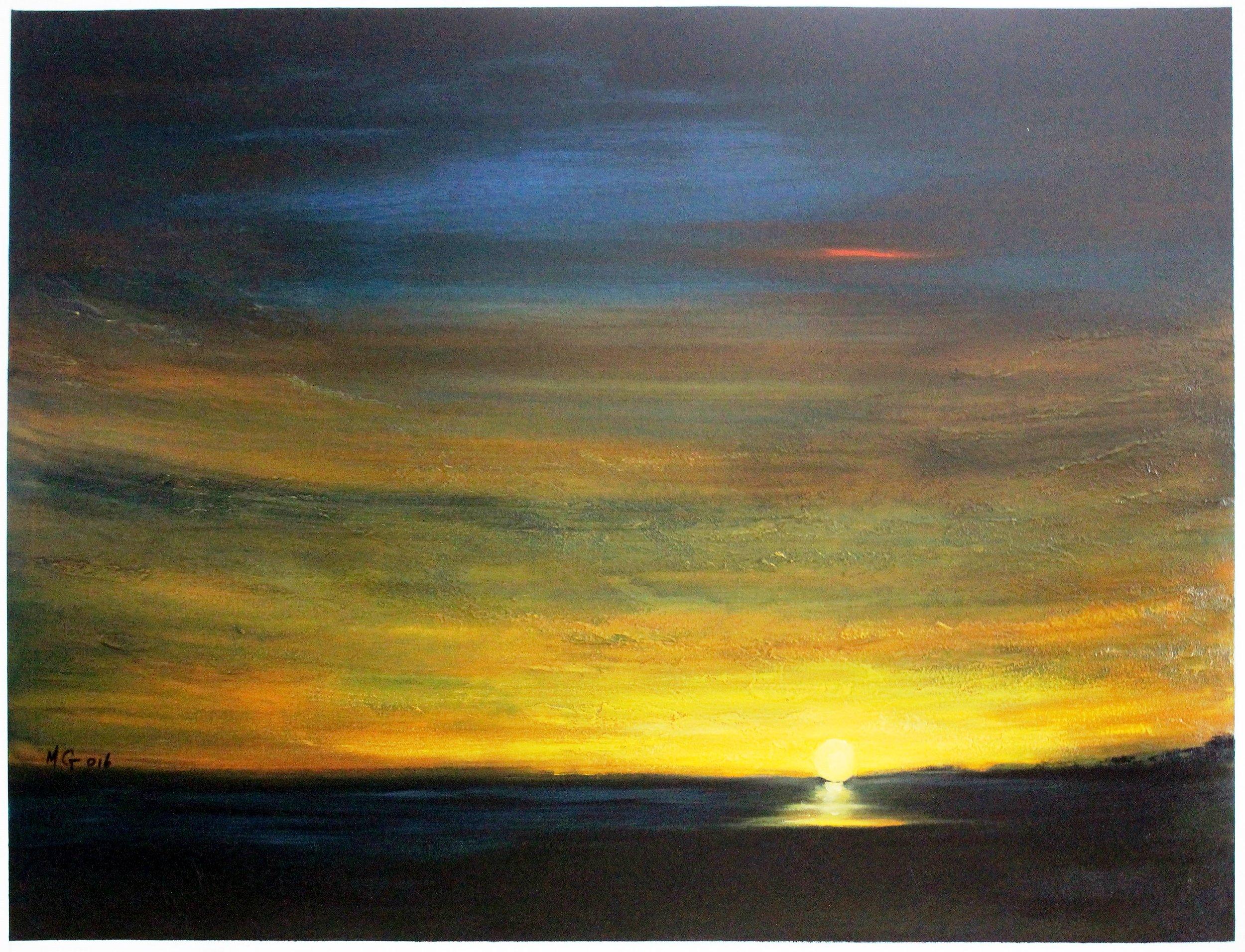 16. GALLAGHER_Martin_Sunrise at Lake Tyrell_107cmx76cm_Oil on Canvas.jpg