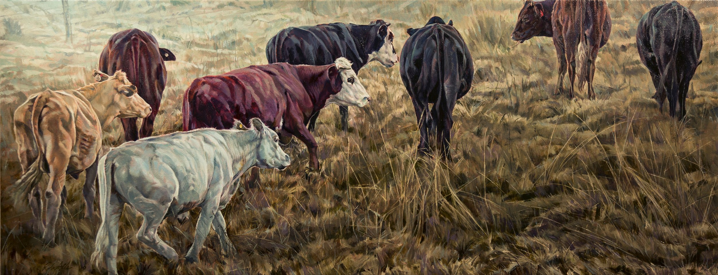 Rob Allen  The Liston Herd,  Oil on canvas
