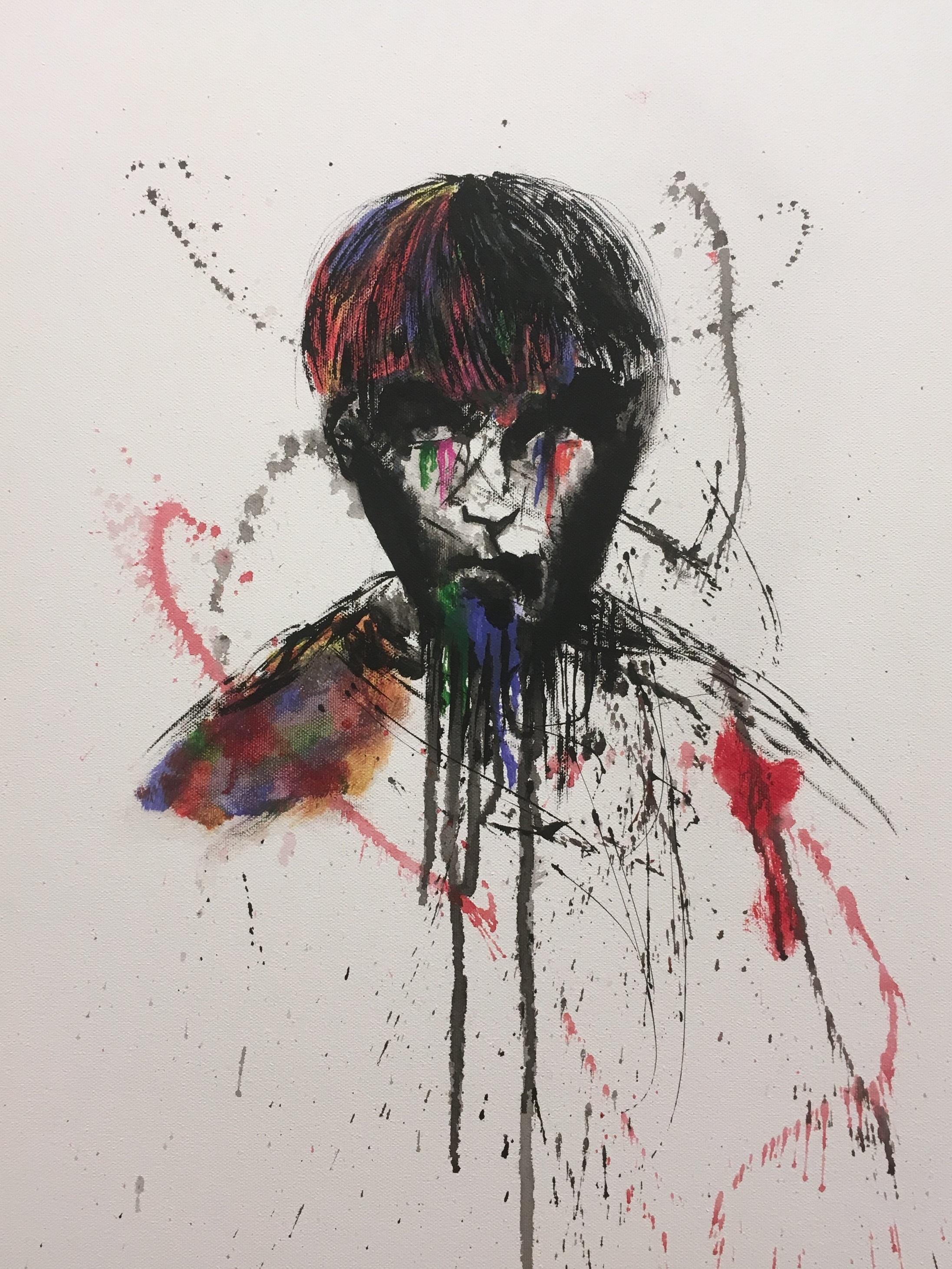 Amy Tjan  Technicoloured Tears , Oil on canvas