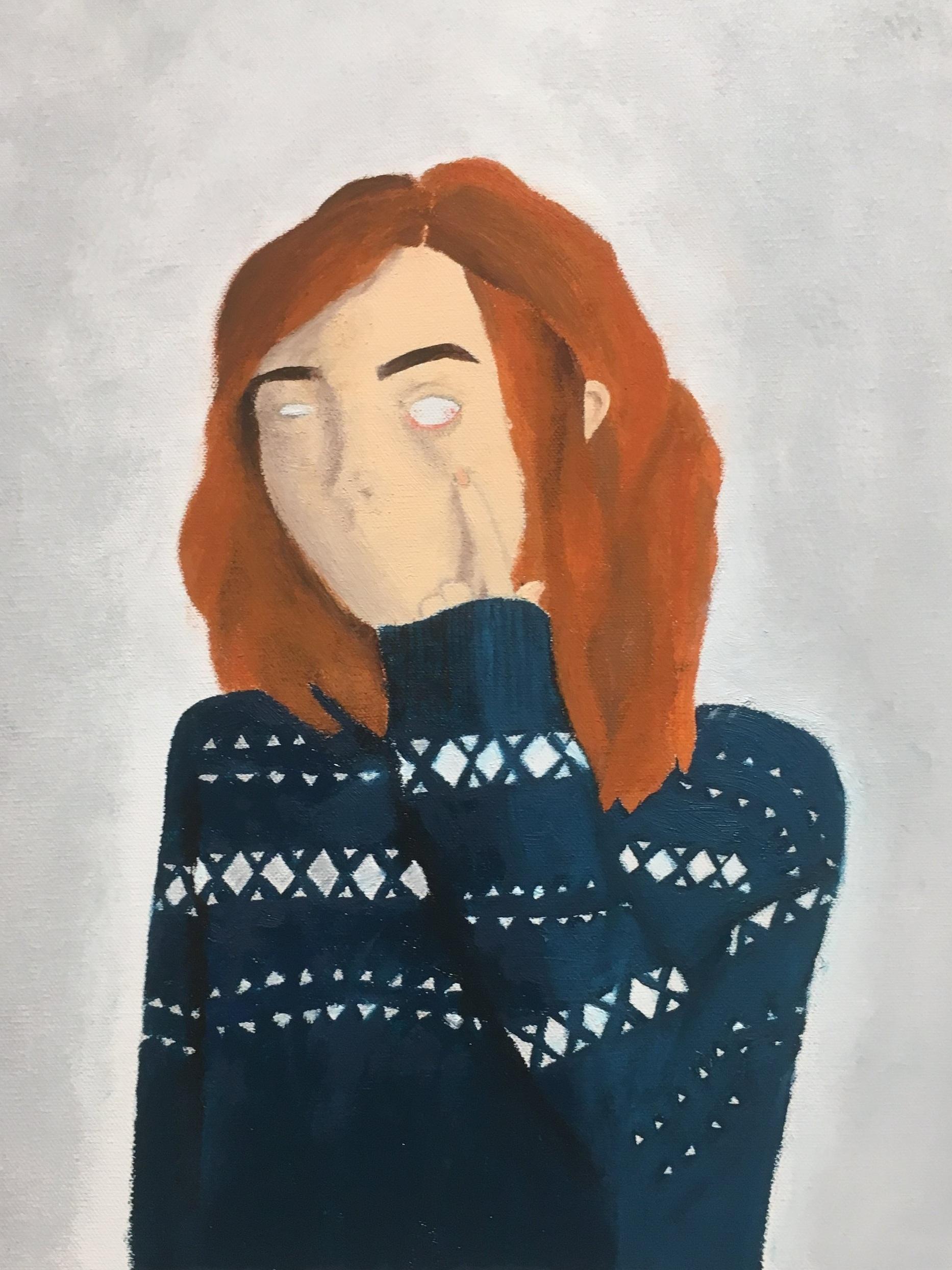 Amy Tjan  Seen But Not Heard,,  Acrylic on canvas