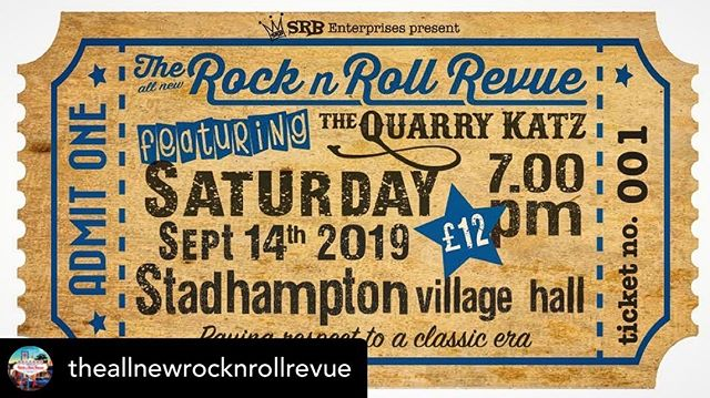 Posted @withrepost • @theallnewrocknrollrevue 💃🏻🕺🏻You can get tickets online at WeGotTickets.com (search Rock n Roll Revue) or you can buy them at the Crown in Stadhampton or Clifton Hampden Post Office 👍🏻
