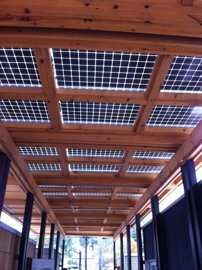 Solar sun shade - We proudly manufacture transparent solar panels that has endless uses.