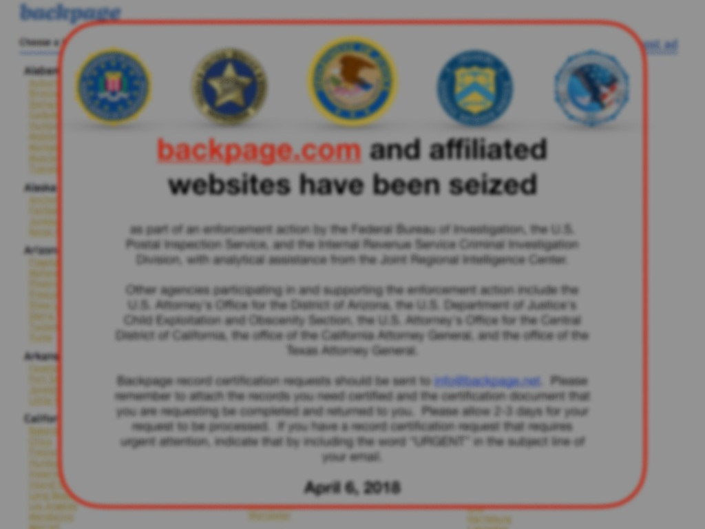 Beyond backpage - Buying and Selling Sex Online in the United StatesOne Year Later
