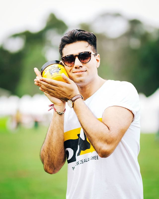 No one loves our Pure New Zealand Ghee like Gary does 😎😎😎 . Did you know Ghee is also used as cosmetics? For hundreds of generations mother's have used ghee to massage the skin of their new born infants. 💁💛☀️ . . . . Pure New Zealand Ghee. . #believeinpure #purenewzealand #ghee #gheegan #sunshine #consciousfood #vegetarian #cheflife #chefmom #desighee #diwali2018 #homecook #ayurveda #ancientfood #gold #nectar #heritage  #kiwipride #cooking #healthyfood #healthfood #indianculture #dairy #australia