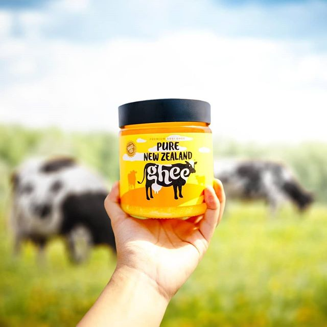 Moo! Did you know Ghee is a dairy that is lactose and casein free? It is also a rich source of essential vitamins A, D, E and K2.  Pure New Zealand Ghee is sourced from free roaming grass-fed cows so the concentrations of these nutrients is much higher, making it the perfect alternative to all existing cooking oils 💛😍👌 . . . . . . #believeinpure #purenewzealand #ghee #gheegan #sunshine #consciousfood #vegetarian #cheflife #chefmom #desighee #diwali2018 #yum #dairy #kiwipride #nz #foody #cookbook #homecook