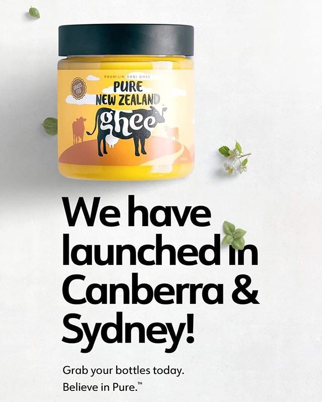 [ANNOUNCEMENT] Our Premium Grass-fed Pure New Zealand Ghee is now available in 25+ stores across Sydney & Canberra 😍😍😍 Find your nearest store at goldleafdairy.com/stores . #ghee #gheegan #healthfoods #lactosefree #lactosefreedairy #newzealand #yoga #ketodiet #yellowaesthetic #healthyrecipes #australia #ayurveda #eathealthy #vitamins #grassfed #dairycows