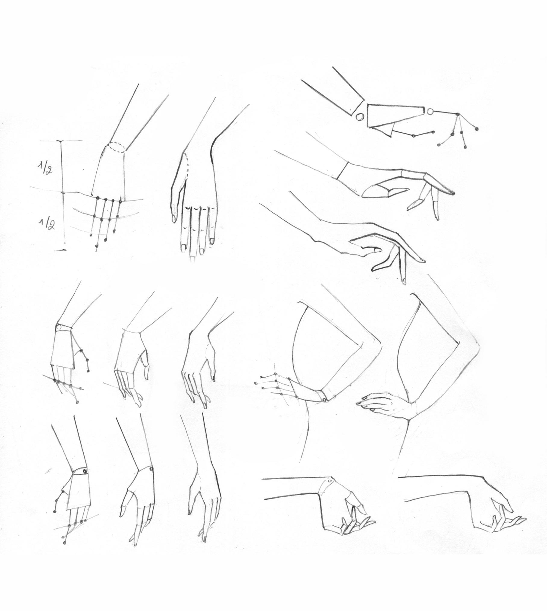 Buổi 6: Cách vẽ bàn tay - + Tỷ lệ bàn tay+ Vẽ bàn tay theo tư duy thời trang+ Vẽ bàn tay theo nhìều góc nhìn khác nhau+ Vẽ bàn tay chống hông, tay cầm túi xách, tay cầm kính mát.