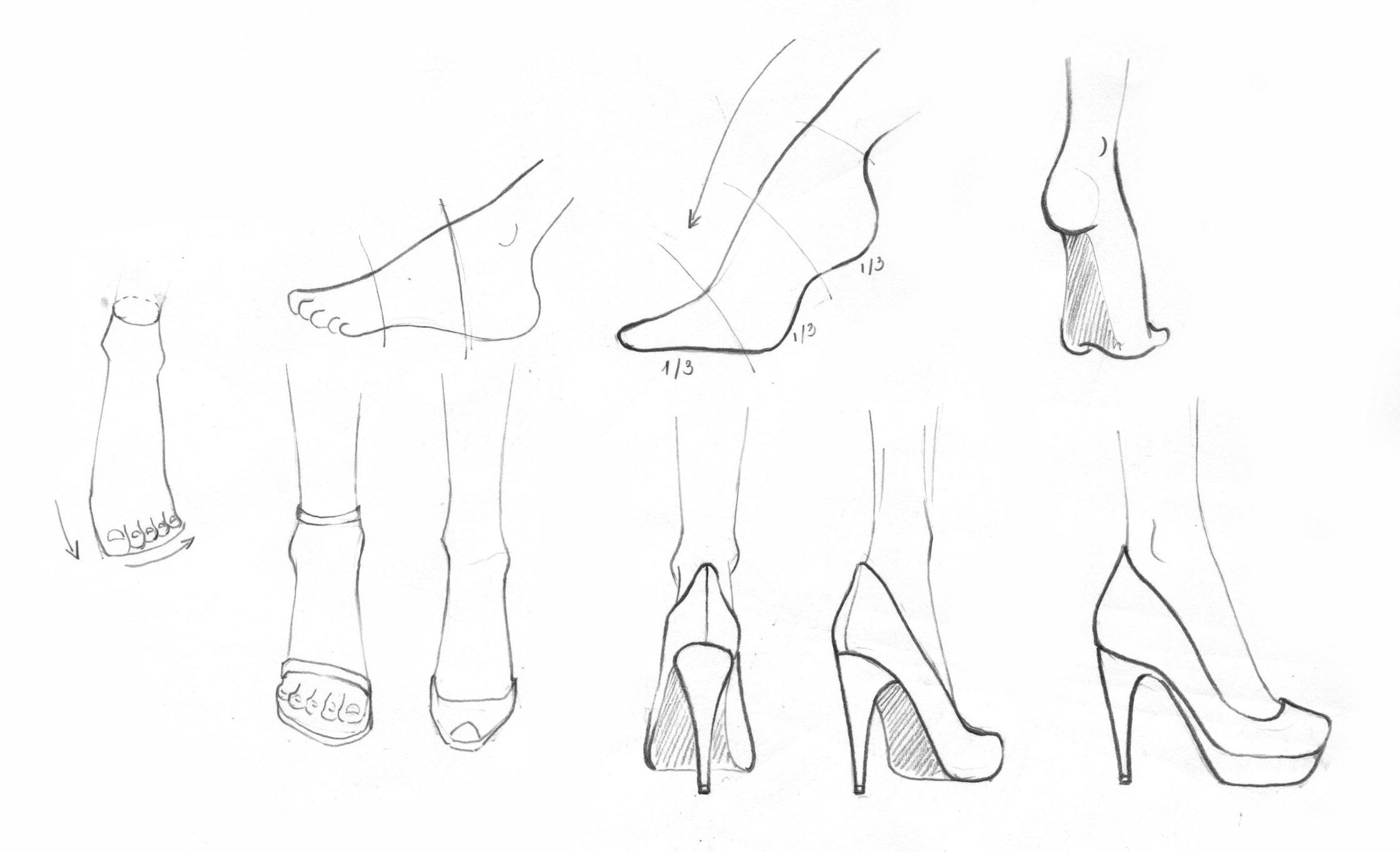Buổi 7: Cách vẽ bàn chân - + Cách vẽ bàn chân theo tỷ lệ và nhìn tự nhiên+ Vẽ bàn chân theo nhiều góc nhìn khác nhau+ Cách vẽ ngón chân+ Cách vẽ bàn chân đang di chuyển, nhìn từ bên hông, chân bắt chéo.