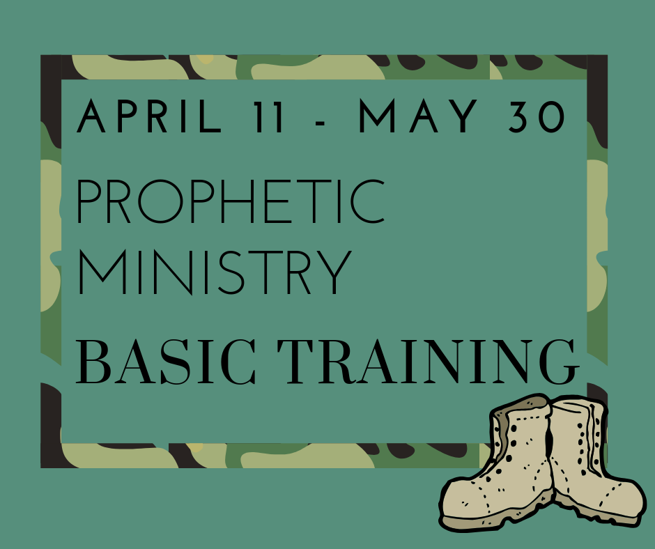 Basic Training For Prophetic Ministry - If you are currently on, or interested in joining the Prophetic Ministry Team, there is mandatory training beginning April 11. The cost is $40 for the book and study guide. The 8-week course will be held in the Sanctuary on Thursday evenings, 7-8:45pm. Signups will be in the Equipping Center Foyer until March 17th.For more information contact Stephen Gunderson at 407-1789 or harvestprophetic@gmail.com.