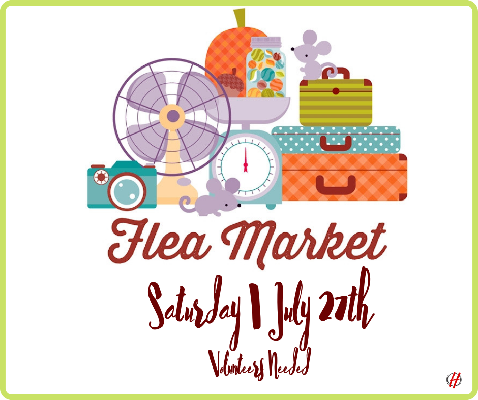 Flea Market - Rev. Bill Mann will be hosting a Flea Market in our Church Parking Lot on Saturday, July 27th from 8:00 am - 2:00 pm. He needs your help!Fore more information, or if you would like to volunteer, please contact him at (757) 409-4994.We hope to see you there!