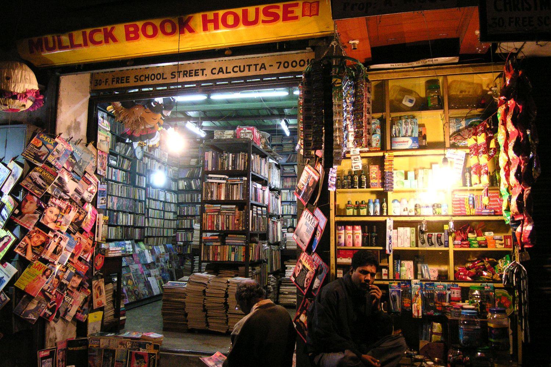 Kolkata - Calcutta   Library   Bookshop   School street   ©sandrine cohen