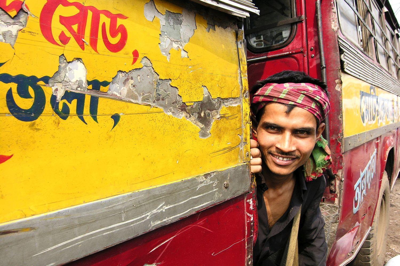 Kolkata - Calcutta   Indian bus   Bus driver   Indian boy   ©sandrine cohen