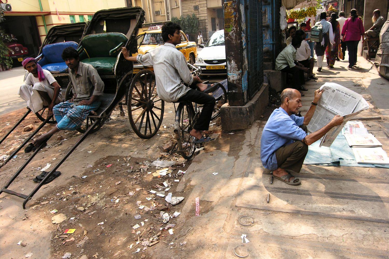 Kolkata - Calcutta   rickshaws station   ©sandrine cohen
