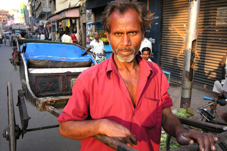Kolkata - Calcutta   Man horse   Rickshaw rickshawala   ©sandrine cohen