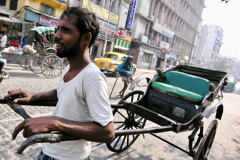 Kolkata - Calcutta   Rickshaw rickshawala   ©sandrine cohen