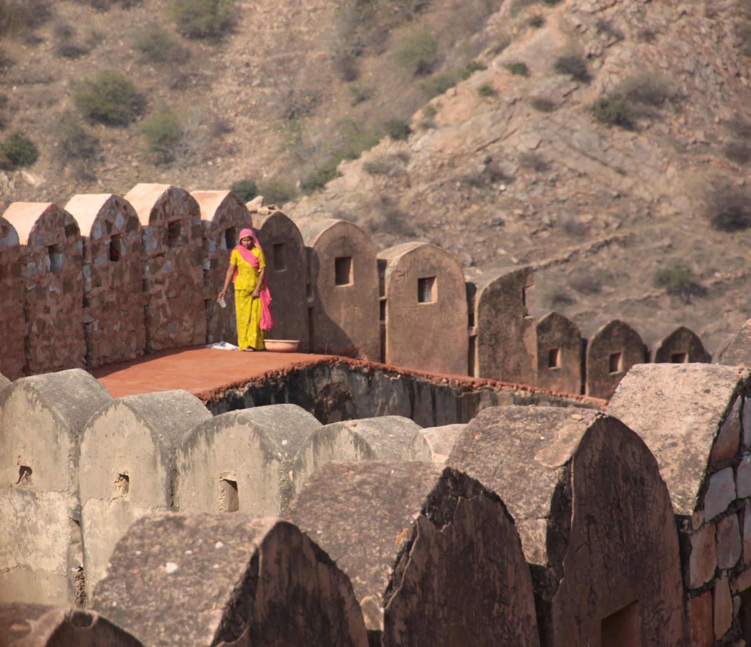 Jaipur | Rajasthan | Woman at Amber Ford | Indian woman at Amber Fort | ©sandrine cohen