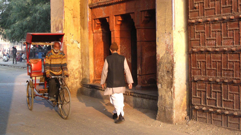 Jaipur | Rajasthan | Pink city | City palace door | Sunset on rickshwawala | ©sandrine cohen