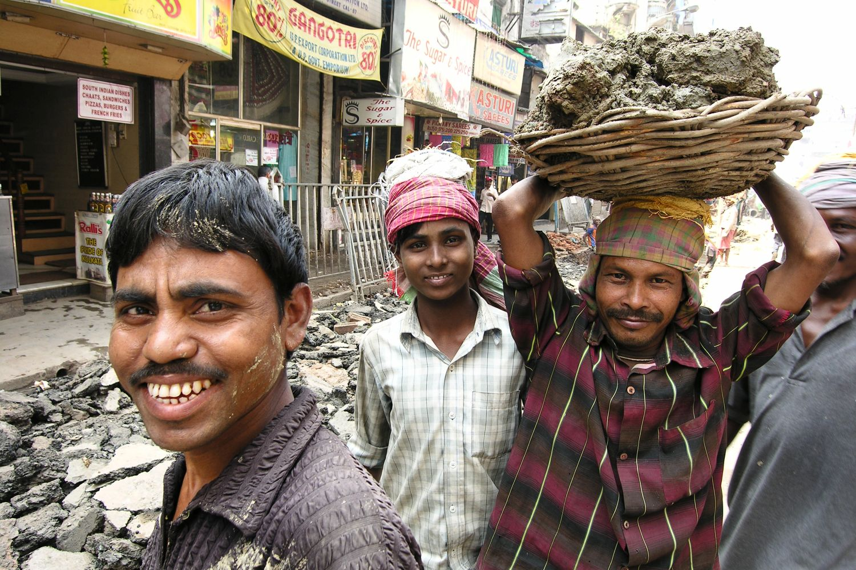 Kolkata - Calcutta   Workers on a construction site   ©sandrine cohen