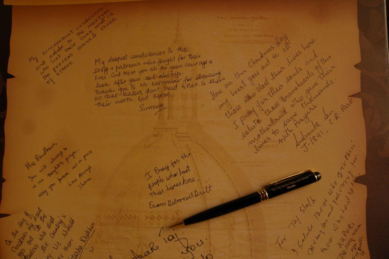 Taj Mahal Hotel Mumbai | Taj group | Gold book in memories attack terrorist victimes |©sandrine cohen