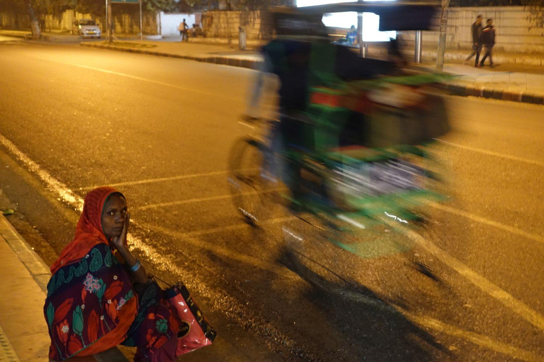Delhi | Rickshaw in the night | ©sandrine cohen