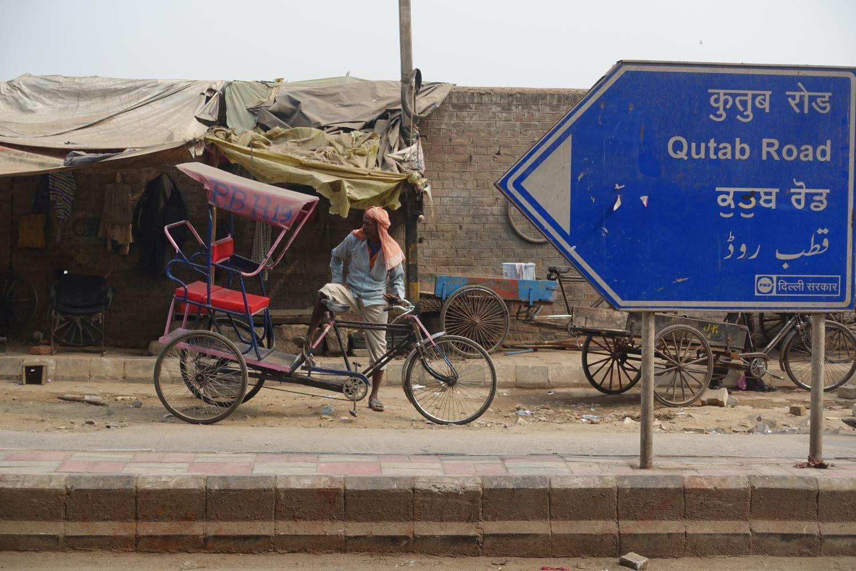 Old Delhi | Traffic in Chandni Chowk | rickshaw driver | street photography ©sandrine cohen