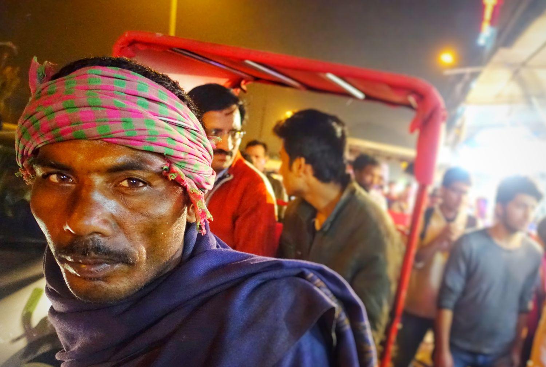 Old Delhi | rickshaw tuck tuck | trafffic in Chandni Chowk | ©sandrine cohen