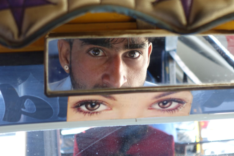 Jaipur | Pink city | Rajasthan | Tuck tuck driver | Aishwarya Rai eyes | Photo sandrine cohen
