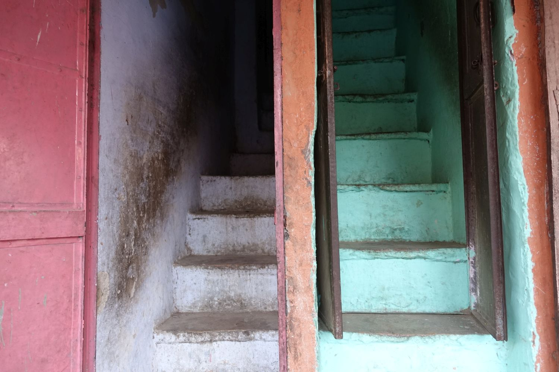 Jaipur | Rajasthan | Pink city | Green stairs | ©sandrine cohen