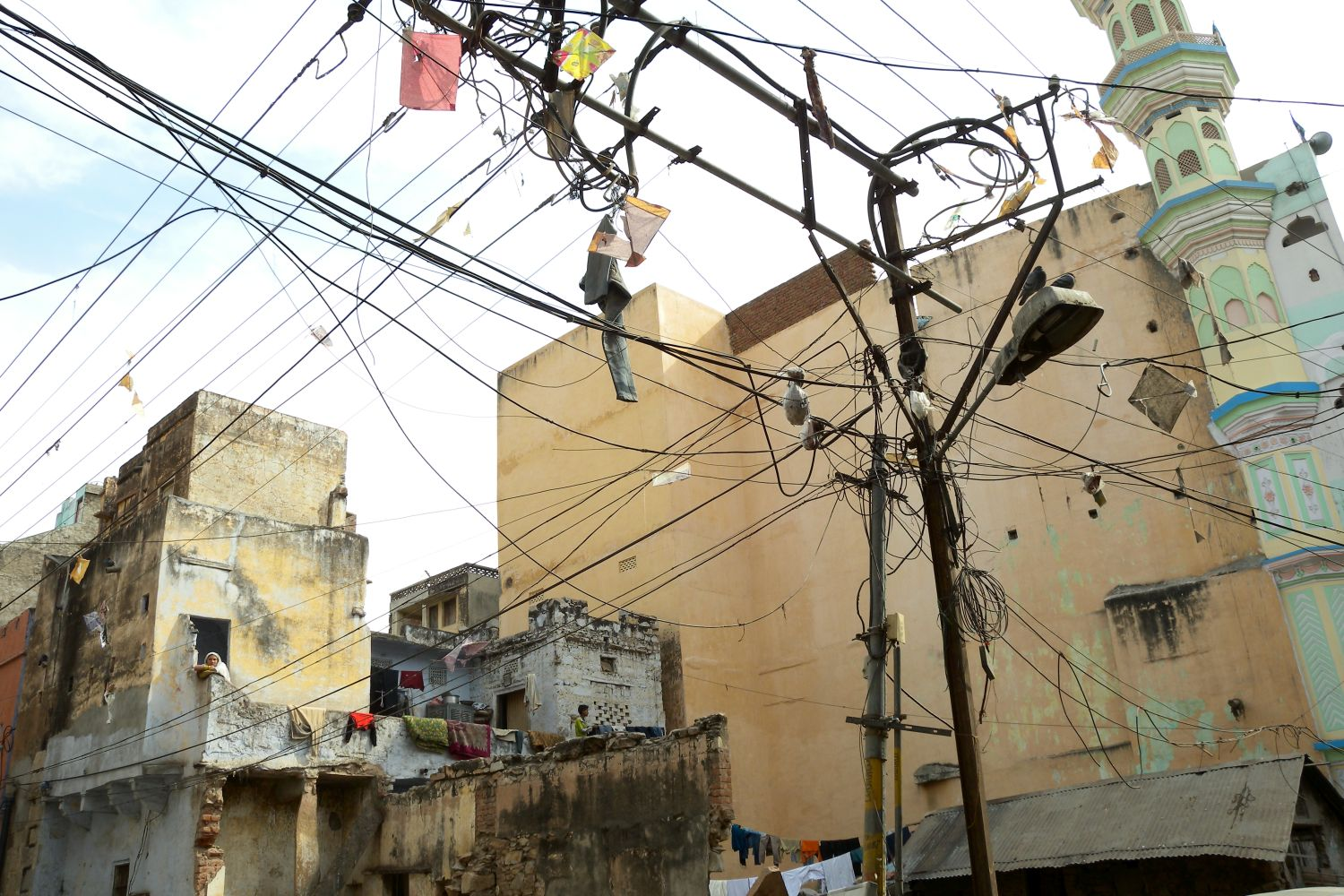Jaipur | Pink city | The electric cables | Rajasthan | ©sandrine cohen
