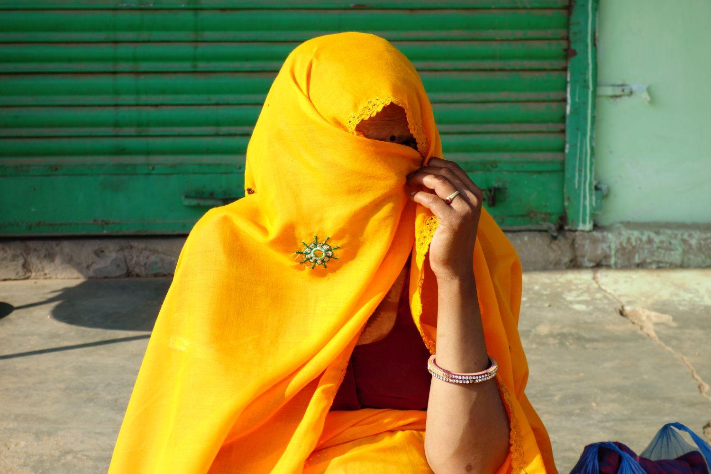 Jaipur | Rajasthan | Pink city | Yellow sari | ©sandrine cohen