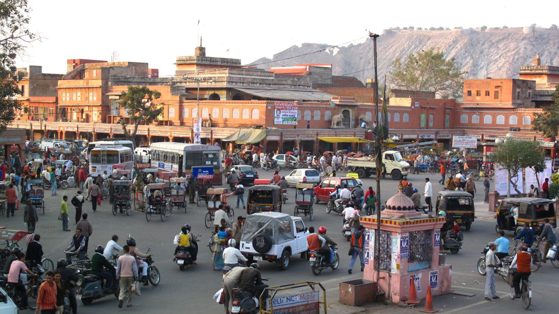 Jaipur | Pink city | Rajasthan | Traffic at Jaipur | Amber fort| ©sandrine cohen