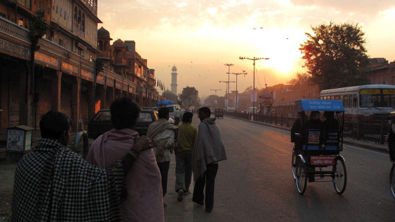 Jaipur | Pink city | Rajasthan | Sunset on rickshaw Jaipur | ©sandrine cohen