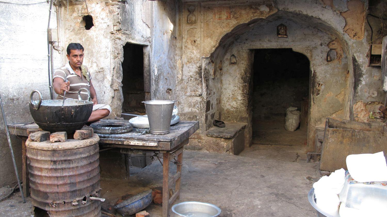 Jaipur | Rajasthan | Pink city | Milk seller | Indian street food | Indian milk | ©sandrine cohen