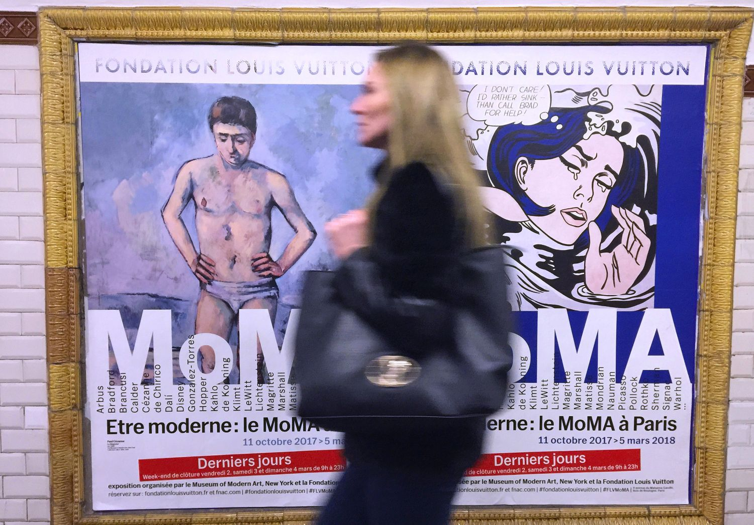 Paris | Metro | Ratp | The poster of the Moma exhibition at Fondation Vuitton | streetphotography |©sandrine cohen