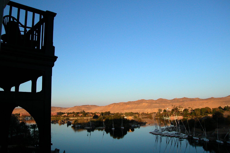 Aswan |Sunset on the Nile |Egypt |View for room Old Cataract Hotel |©sandrine cohen