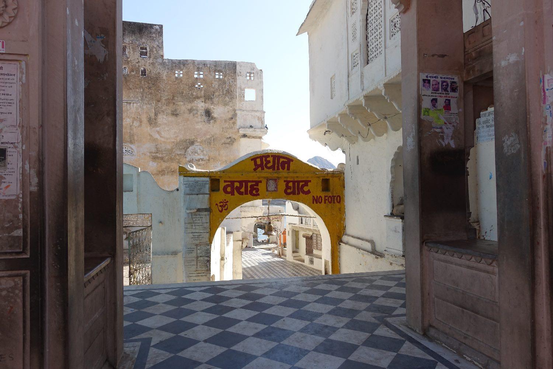 Pushkar | Rajasthan | carrelage black and white | Photo sandrine cohen