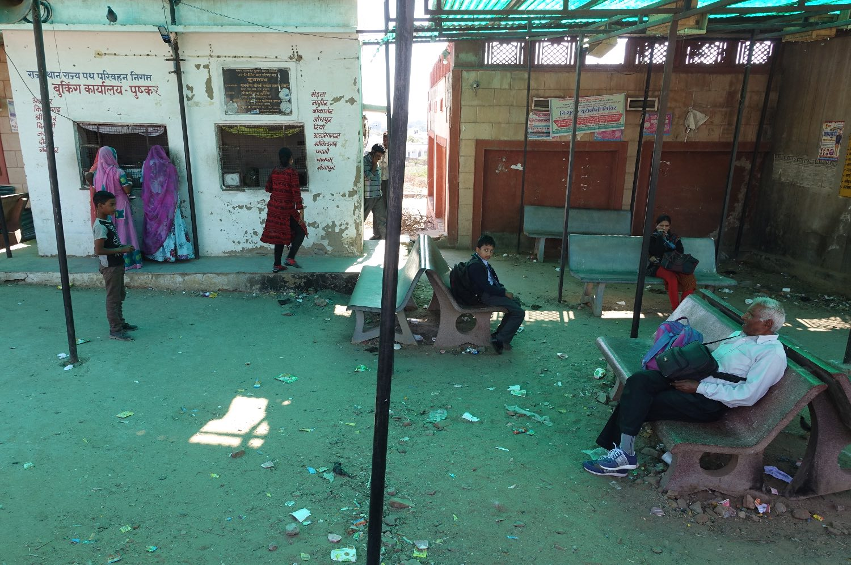 Pushkar | Rajasthan | Pushkar bus station | ©sandrine cohen