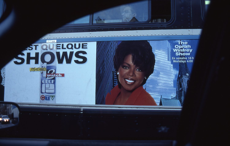 Montreal   Oprah Winfrey advertising on the bus in 1996   photo sandrine cohen