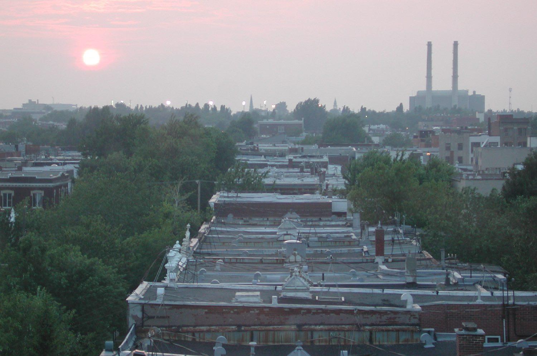 Montreal   Sunrise on Rachel street   Plateau Mont-Royal   photo sandrine cohen