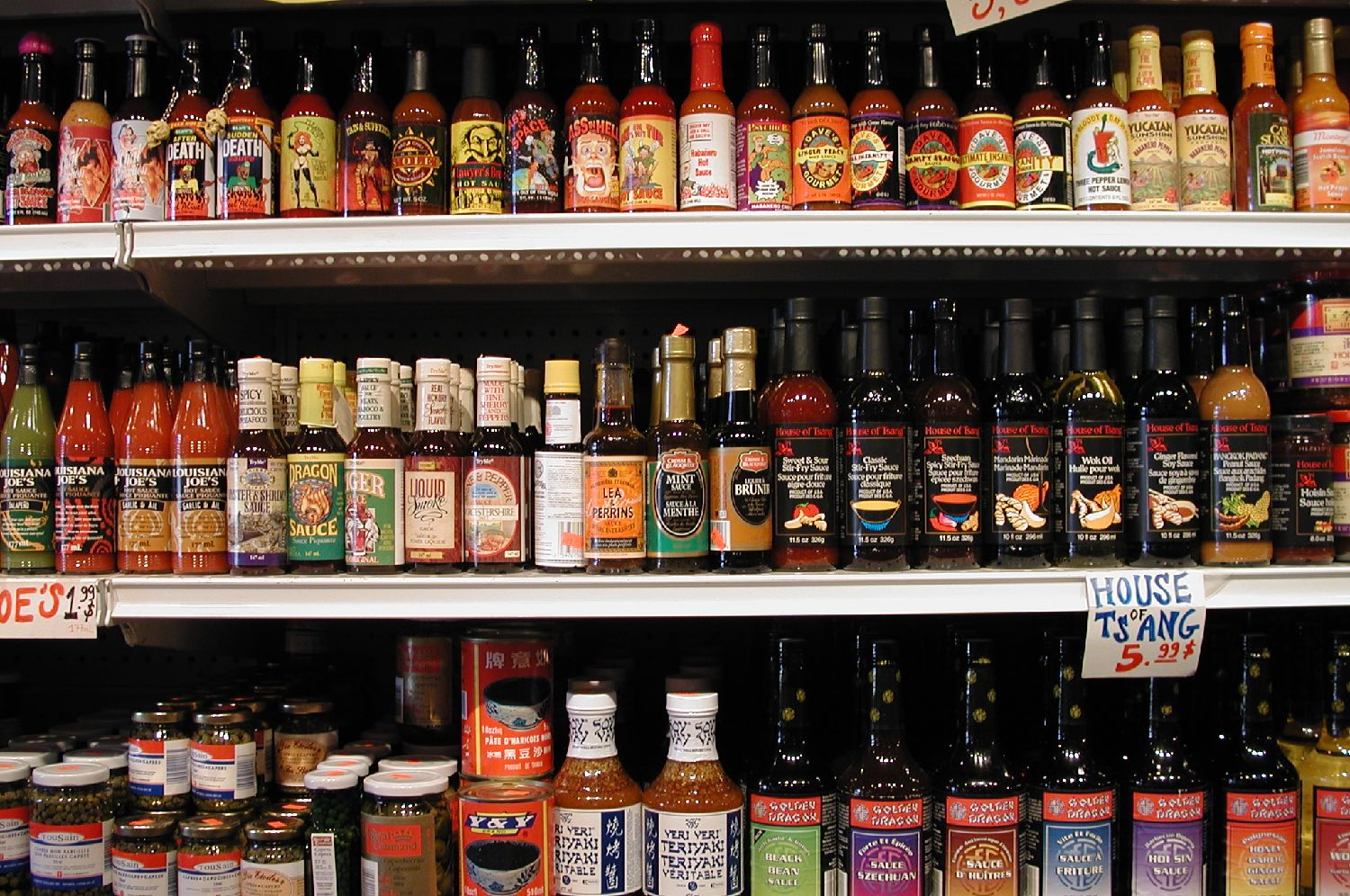 Montreal   American sauces at the supermarket   photo sandrine cohen