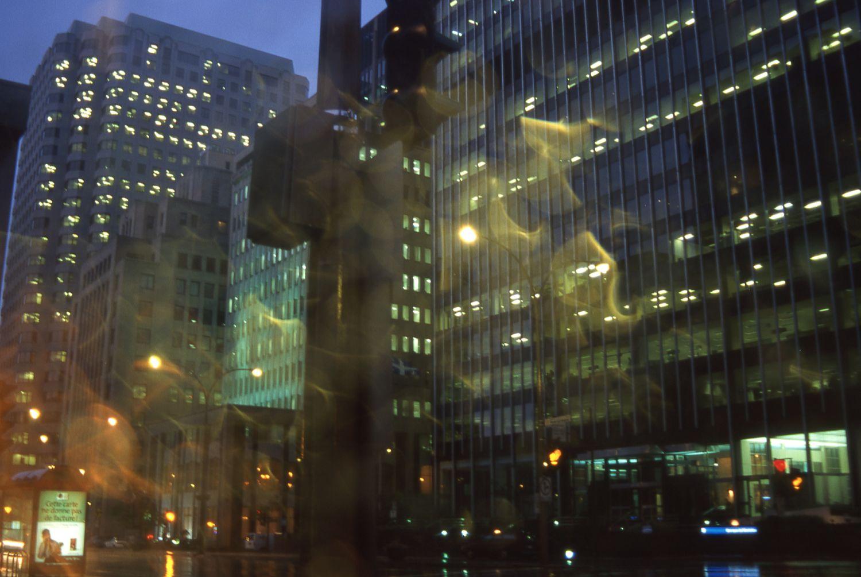 Montreal   Crossroads in the rain   photo sandrine cohen