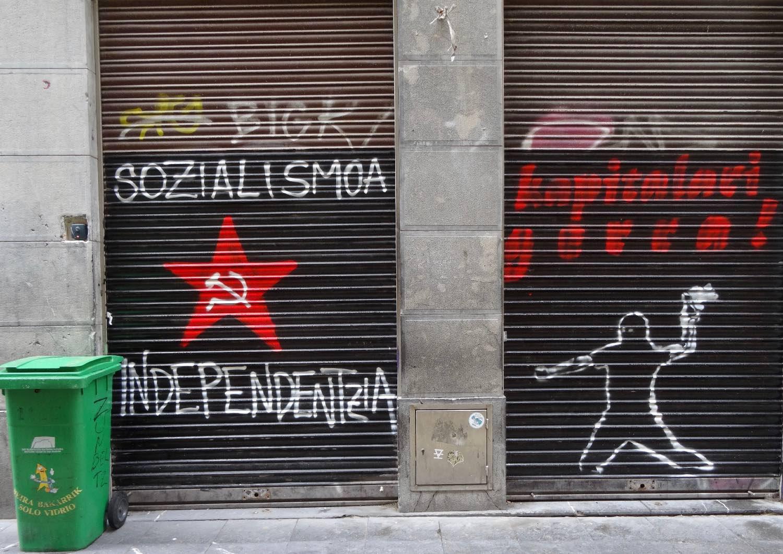 San Sebastien | San Sebastian | Donostia | street art | Tag for the independence of the Basque country  | photo sandrine cohen