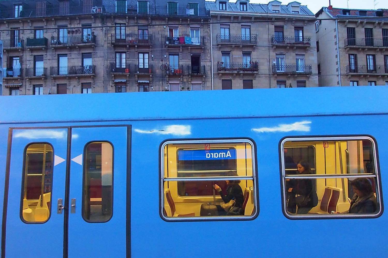 San Sebastien | San Sebastian | Donostia | Train Topo at Amara station | photo sandrine cohen