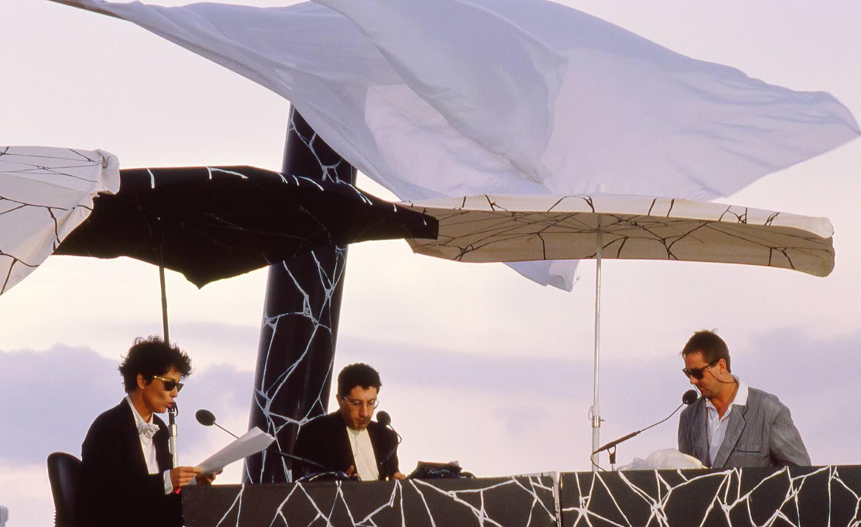 Les Nuls | Canal Plus | Chantal Lauby | Alain Chabat | Bruno Carette | Festival de Cannes 1988 | Photo sandrine cohen