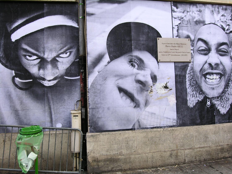 JR artist | Arts citoyens | Photographic collage | Paris 2006 | ©sandrine cohen